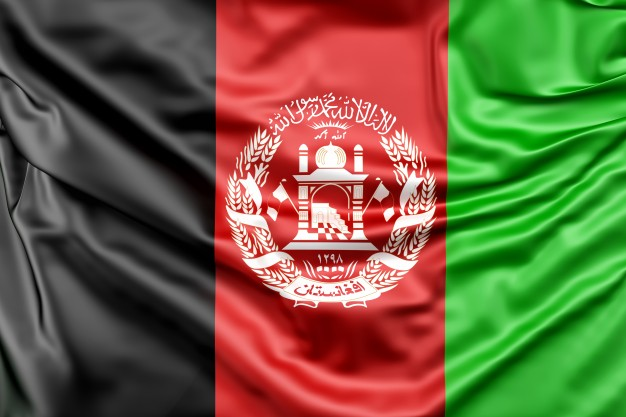 Black, Red and Green Flad of Afghanistan